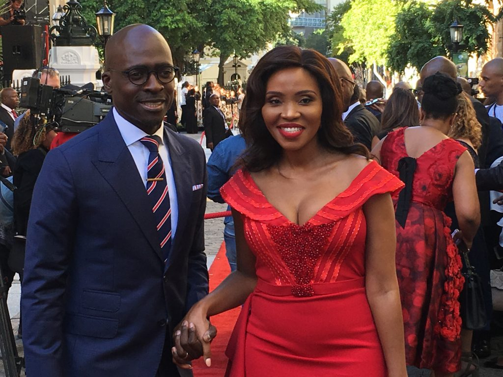 malusi gigba sona 2018, malusi gigaba and wife, norma gigaba sona 2018, finance minister sona 2018
